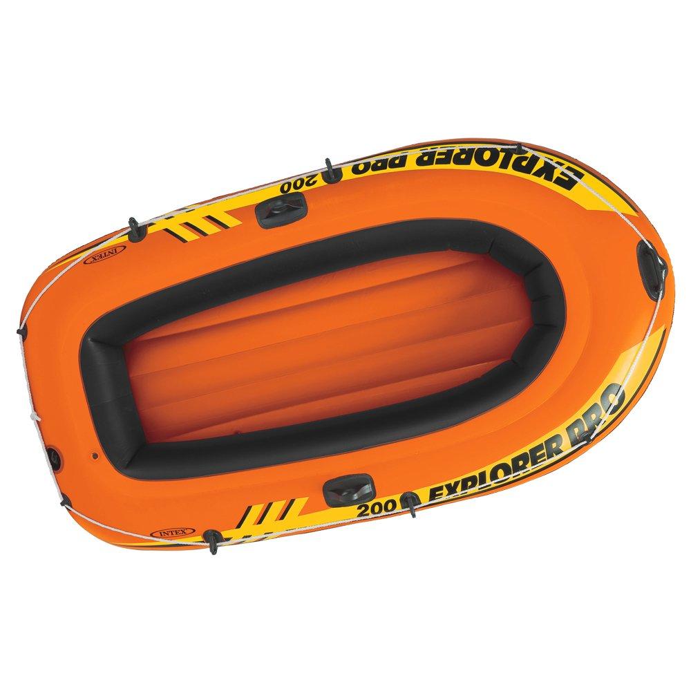 INTEX Explorer Pro 200 Barco Hinchable, Unisex Adulto, Naranja, Negro, 196 x 102 x 33 cm 58356