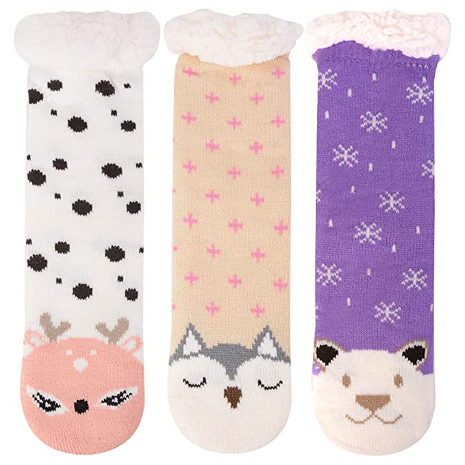 BFACCIA Multicolor calcetines de algodón engrosado de cachemira de otoño e invierno Medias de lana de
