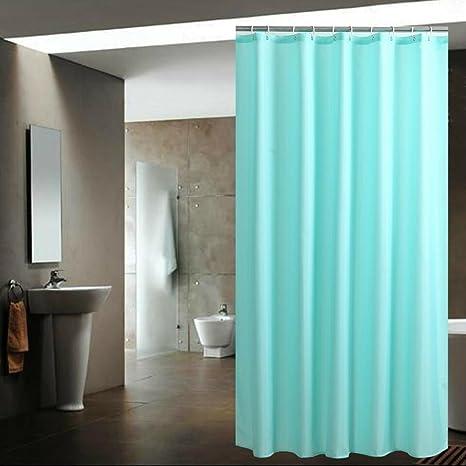 Amazon Shower Curtain Plain Premium Mint Blue Mildewproof