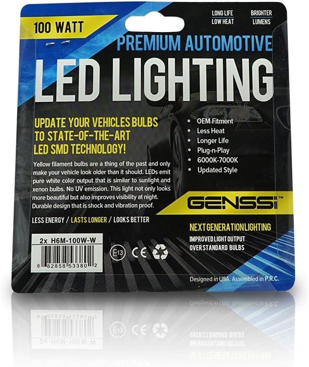 2PC White Bulbs H6M 35//35W 60 Watt Head Light Yamaha YFZ450R TRX400EX Recon 250