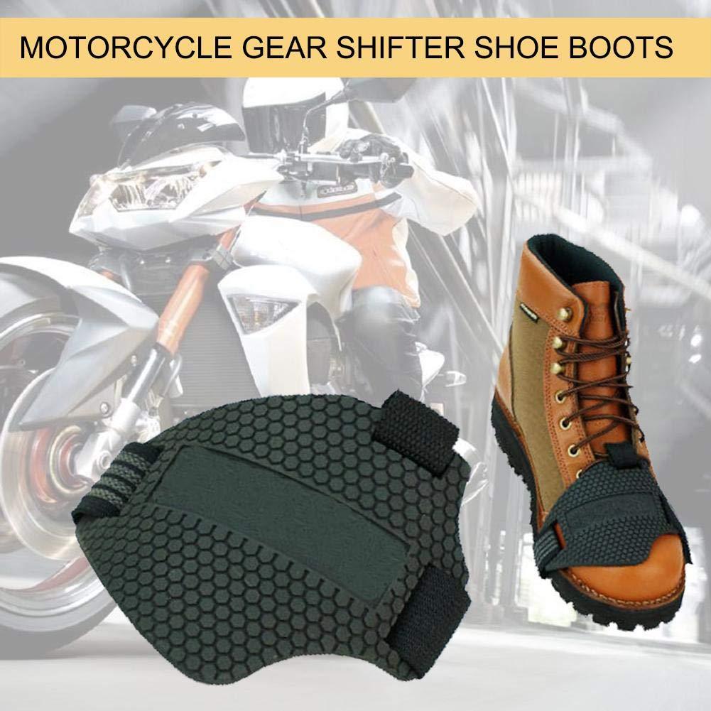 Jiang Hui Schalthebel Schuh Stiefel F/ür Motorrad,Motorrad Schuhschutz Stiefel Abdeckung Schuhe Besch/ützer