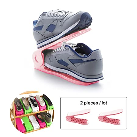 Space Saver Shoe Rack,BAFFECTu0026reg; Shoe Slots Space Saver Shoe Storage Shoe  Stacker Shoe