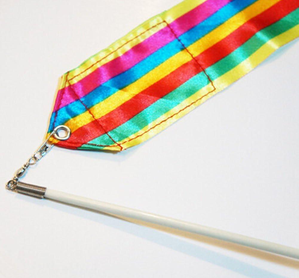 Hosaire Ruban Rainbow de Danse Bande de Gymnastique Rythmique Ruban Poign/ée Antid/érapant Jouets pour Enfants 2Pcs