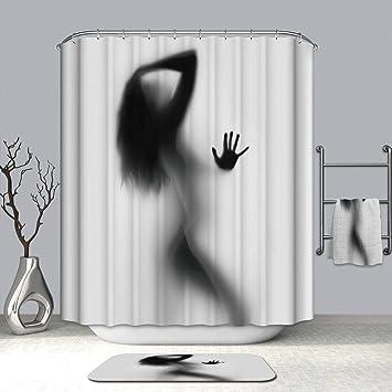 Halloween Shower Curtain Liner Window Curtains 3D Dread Silhouette Printing 100 Mildew Resistant Waterproof Polyster
