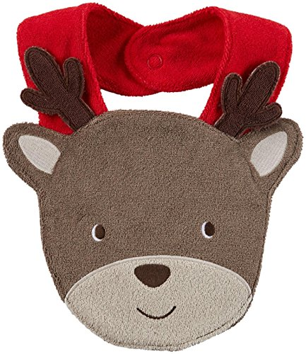 Carter's Unisex Baby Holiday Bib (Baby) - Reindeer - One Size