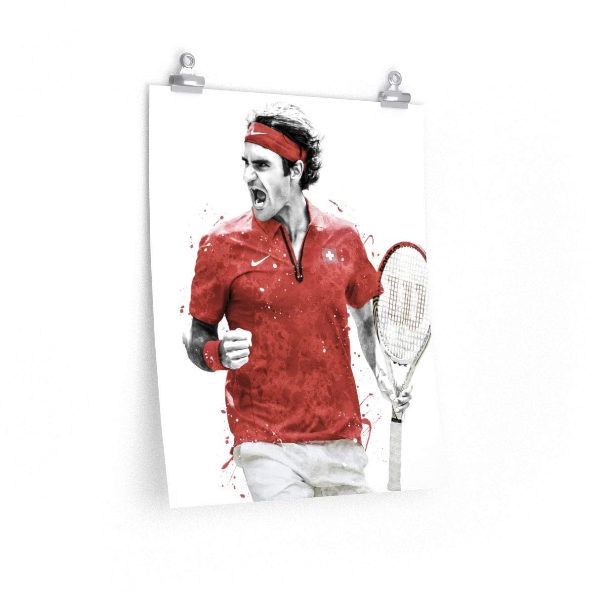 Amazon.com: Roger Federer Poster, Roger Federer Art Print, Wimbledon Wall  Print, Tennis Wall Art, Tennis Watercolor Print, Tennis Player Art, Tennis  Wall Poster, Man Cave Gift: Handmade
