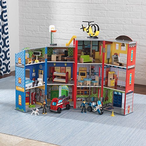KidKraft Everyday Heroes Police and Fire Play Set by KidKraft