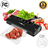 Vacuum Sealer Automatic Food Sealer Machine with 15pcs Saver Bags for Food Preservation Compact DesignDry & Moist Food Modes Wine Vacuum Sealer with Free Plug.