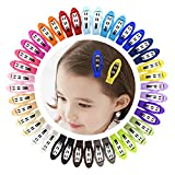 Ruyaa 2'' Snap Clips No Slip Wrapped Hair Barrettes for Toddlers Girls Kids Women Hair Accessories,Solid 20 Pairs