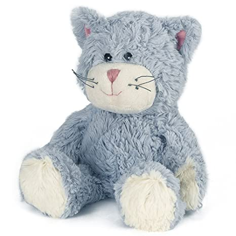 Peluche de gato azul apto para microhondas, de Warmies