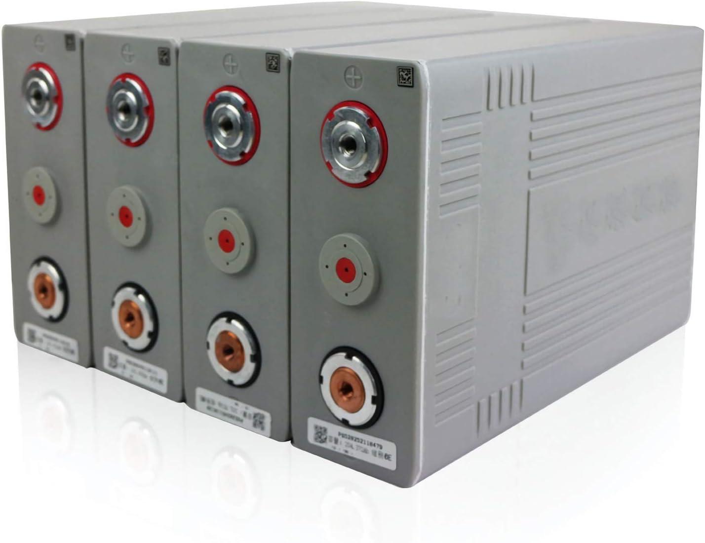 LeiQuanQuan Batería lifepo4 4pcs 3.2v 100ah LIFEPO4 Batería 12V 24V 48V Litio De Hierro Fosfato Cell Nuevo CA100 PLÁSTICO para Solar RV batería Recargable