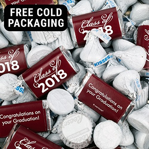 Maroon Graduation Hershey's Mix 3lb (Free Cold Pack) - Class of 2018 -
