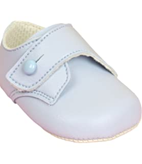 9f0335dd7a91f Babyprem Baby Shoes Boys Clothes Classic Soft Soled Button Blue 0-18 Months