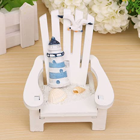 Groovy Buytra Miniature Fairy Garden Sea Beach Style Chair Ornament Outdoor Decor Home Article Wedding Cake Topper Decoration Gamerscity Chair Design For Home Gamerscityorg
