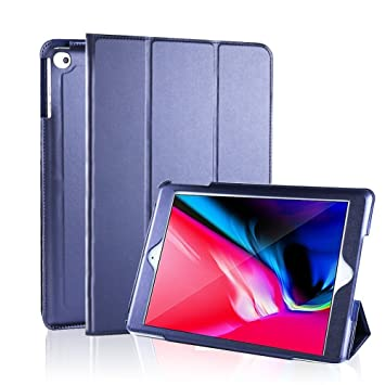 MH Designs® iPad Mini 1/2/3 Funda, Quality Leather Ultra Delgado Ligero Inteligente Smart Wake/Sleep Funda Funda para Apple iPad Mini 1/2/3 [Azul ...