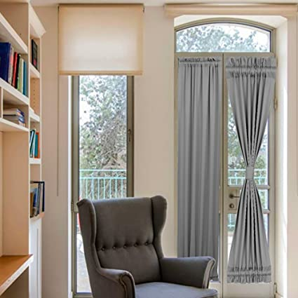 Amazon Gray French Door Curtains For Sliding Glass Door Rod