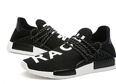 2bee5fa716a77 bashy fashion Unisex Pharrell Williams NMD hu Human Race New Black White  Athlete Tennis Running