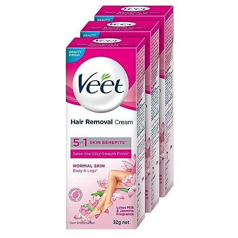 Buy Veet Hair Removal Cream For Normal Skin 32g Pack Of 3