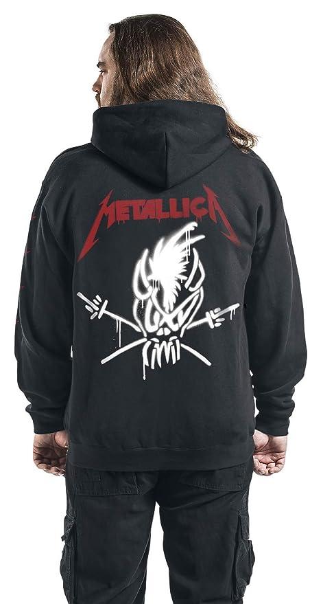 Metallica Scary Guy Capucha con Cremallera Negro L: Amazon.es: Ropa y accesorios