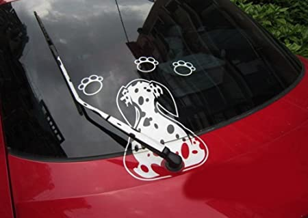 Autoaufkleber Hund Autosticker Lustige Hunds Bewegen Schwanz