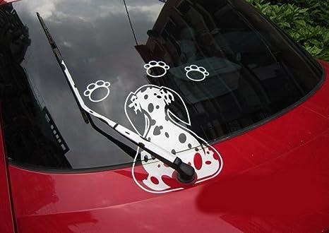 SwirlColor Perro en movimiento Ventana manchado de cola divertido limpiaparabrisas engomada reflexiva del coche limpiaparabrisas Adhesivos