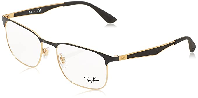 3c757f7258 ... ebay ray ban unisex rx6363 eyeglasses gold top on black 52mm 741f3  e237b ...