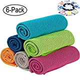 "Best Cooling Towels - [6 Pack] Cooling Towel (36""x12""), Soft Breathable Ice Review"