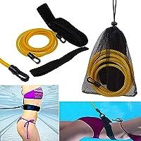 Queta Cinturón de Entrenamiento de natación Cuerda Piscina Nadar Adjustable Cinturón de Resistencia Estacionario para…