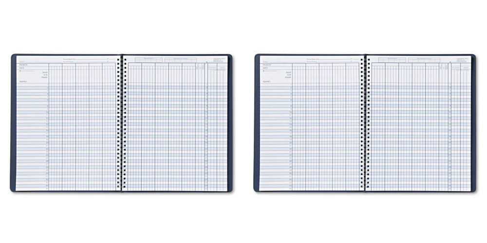 House of Doolittle Academic Series Class Record Book Blue Leatherette Cover, 8 x 11 Inches( HOD51407), 2 Packs