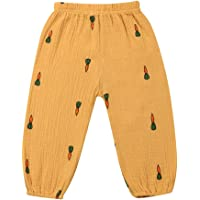Pantalones Largos para Bebé de 1 a 4 Años Pantalón Casual de Algodón con Estampado de Lunares Leggings Pantalones Harén…