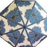 Brighton Showers of Flowers Blue 36 Pocket Compact Umbrella