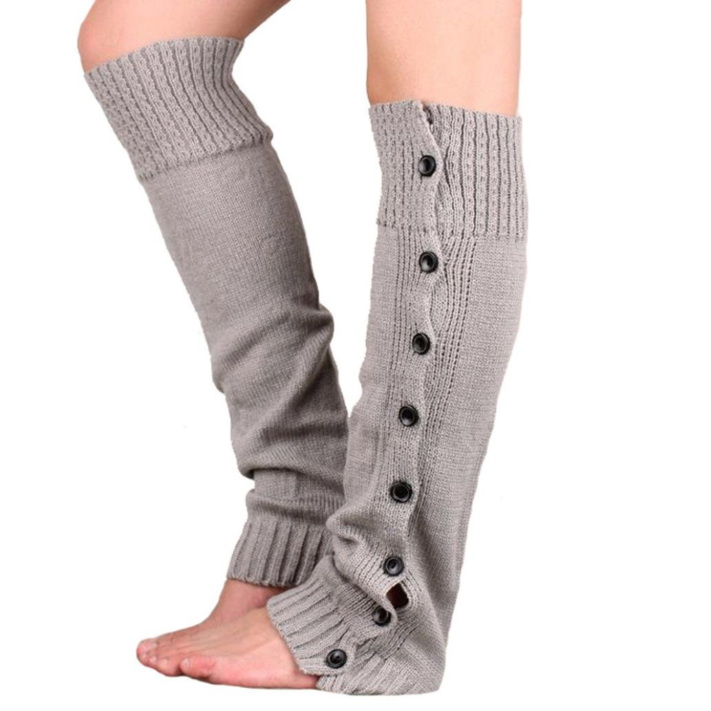 Tenworld Women Winter Gift Stretch Knitting Leg Warmers Boot Socks Tenworld-socks