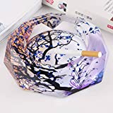 Home Windproof Ashtray Crystal Glass Cigar Living Room Office Indoor And Outdoor Ashtray ( Size : 25CM )