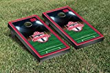 Toronto Reds MLS Cornhole Game Set Soccer Field Version