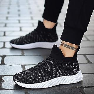 YAYADI Garçons Chaussures De Sport Respirant Adultes Mâles Marche Jogging Sport Chaussures D'Athlétisme Fond Creux Sneakers Quatre Saisons