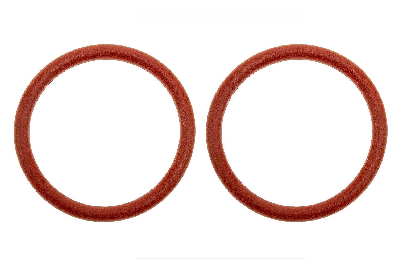 38 x 4 mm, silicona, 38 mm, exterior 46 mm color rojo 2 juntas t/óricas
