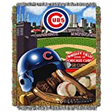 """MLB Chicago Cubs Home Field Advantage Woven Tapestry Throw, 48"""" x 60"""""""