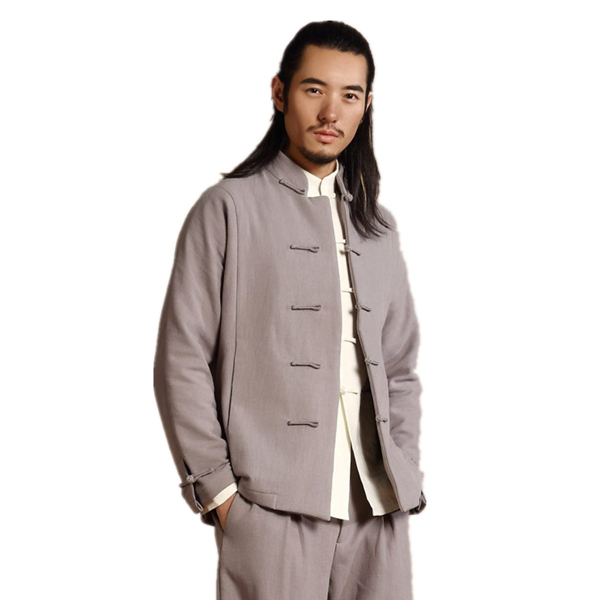 WEISAN Mens Chinese Tang Suit Add Wool Cotton-Padded Shirt Kung Fu Costume Coat