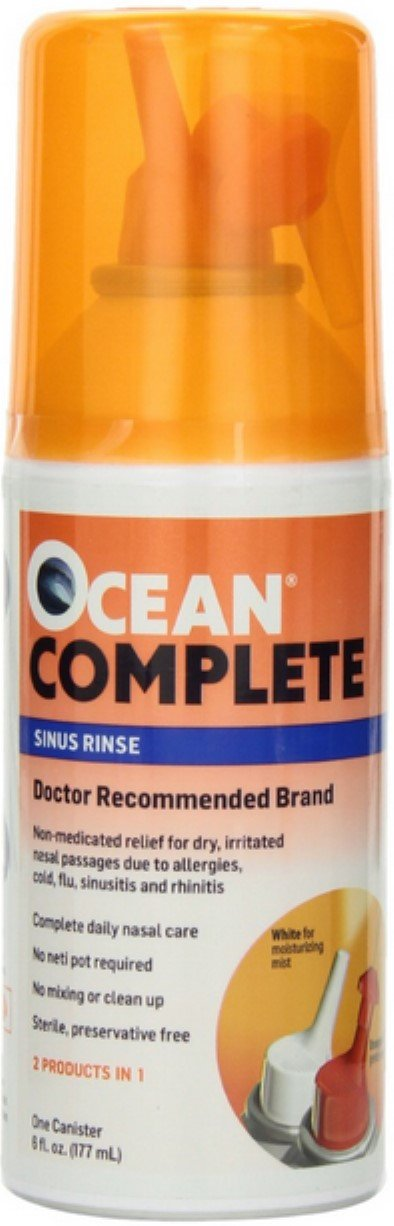 OCEAN Complete Sinus Rinse 6 oz (Pack of 4) by Ocean