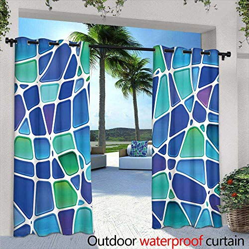 (Lightly Outdoor Privacy Curtain for Pergola,Abstract Vector Illustration Background Depicting a Circuit Board,W84 x L84 Silver Grommet Top Drape)
