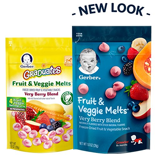 Gerber Graduates Fruit and Veggie, Melts Very Berry Blend, 1 Ounce (Pack of 7) by Gerber Graduates (Image #3)