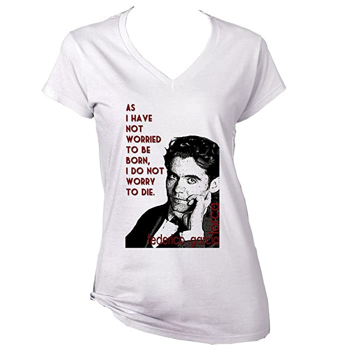 Para Teesquare1st Garcia Algodon De Lorca Camiseta Federico Mujer qrInRZwrO