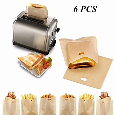 6 bolsas de tostadora reutilizables antiadherentes para pan ...