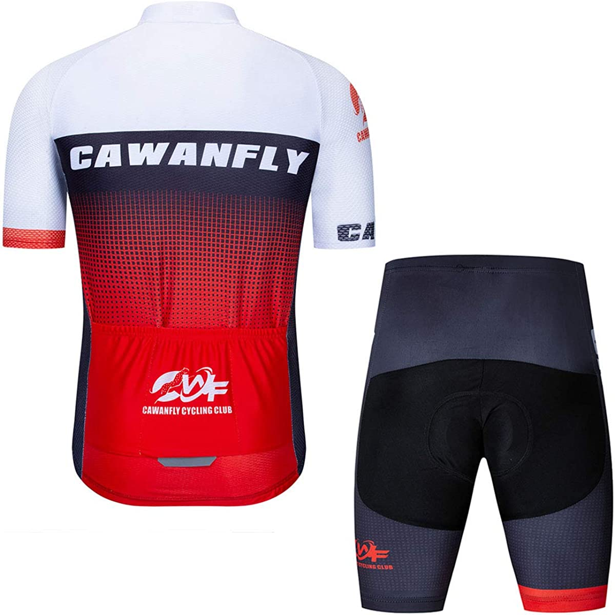 Men Cycling Outfit Set MTB Road Bike Cycling Clothing Short Sleeve Biking Shirt Compression Bike Shorts