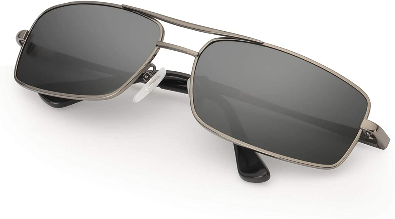 MuJaJa Clásico Gafas de sol Hombre Polarizadas Metal Marco, Aptos para Conducir, Pescar e Ir en bicicleta-100% Protección UVA/UVB