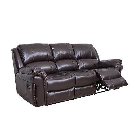 Amazon.com: comodaland sofá de piel regenerada de lujo ...