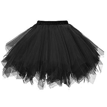 Ksnnrsng Faldas de tutú para Mujer Falda de Enagua de Tul Vintage ...