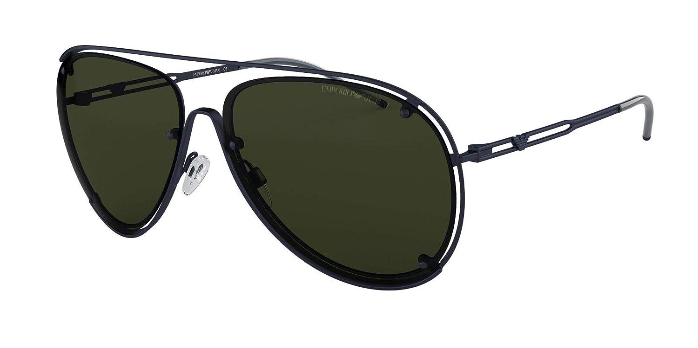 Emporio Armani 0EA2073 Gafas de sol, Matte Blue, 63 para ...