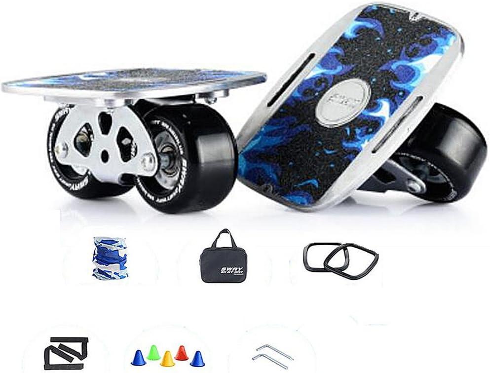 ラグジュアリーfreelineドリフトスケートハイエンドベアリングアルミ合金ペダルスポーツアウトドアエンターテイメントのポータブルスケートボード 黒