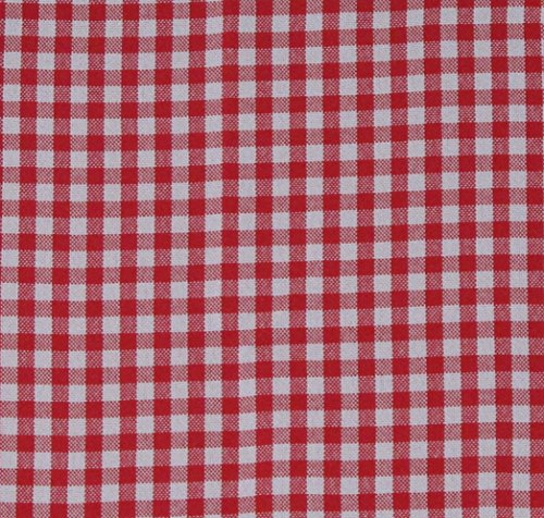 Basket Liner Patterns - Gingham Pattern Cloth Liner - Red